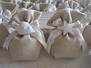 Bomboniera sacchetto stile mare per matrimonio e comunione cod. 20M