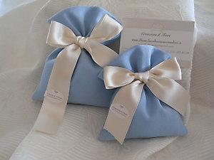 Sacchetto in stile mare azzurro polvere per matrimoni e comunioni cod. 3M - 3M1