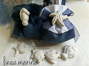 bomboniere-con-stella-marina-cavalluccio marino ceramica cod. 77m-77M1