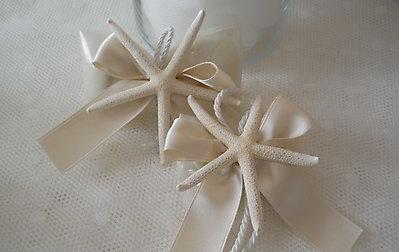 Ciuffetto  con stella marina per matrimoni e comunioni cod. 4M
