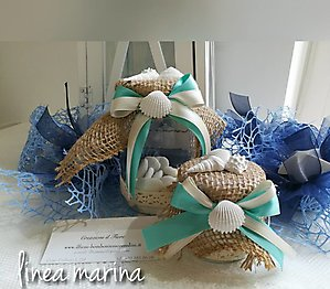 Bomboniera matrimonio comunione stile marino barattolo cod. 21M - cod, 21M1