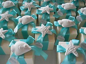 Bomboniera stile marino per matrimonio e comunioni scatola con gessetto profumato cod. 16M