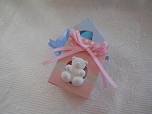 Scatola portaconfetti nascita con orso cod. U13