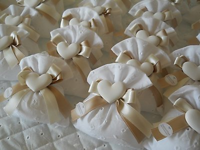 Bomboniera cresima matrimonio comunione sacchetto in san gallo comunione matrimonio con gessetto 49N