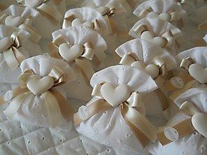 mod. 174C bomboniera sacchetto in san gallo con gessetto