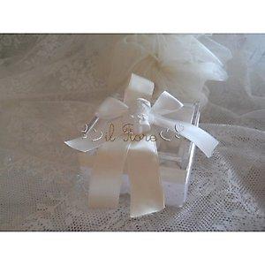 mod. 180C bomboniera scatola in plexiglass con gessetto