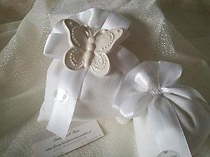 Bomboniera con farfalla grande in ceramica cod. 85G - 85G1