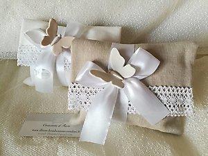 Bomboniera Comunione Cresima matrimonio con farfalla in ceramica cod 96R - 96R1