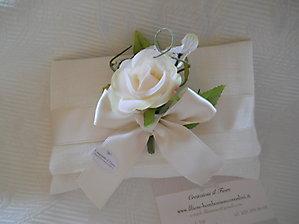 Bomboniera matrimonio comunione cresima busta con fiore cod.53EF