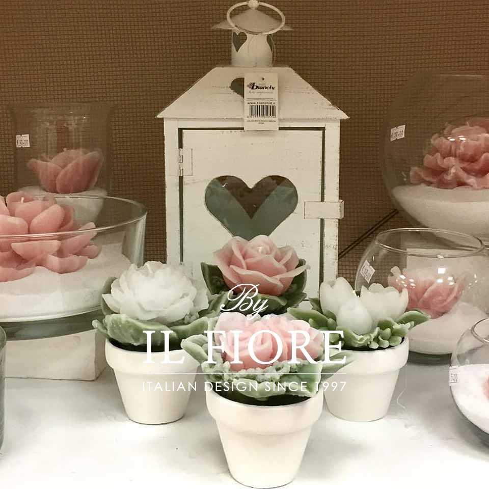 Bomboniera Candela Bouquet vasetto