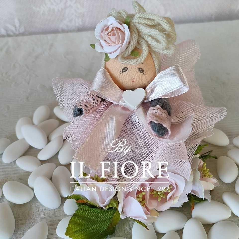 Bambola in stoffa Pinkas per Bomboniera