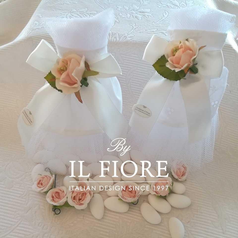 Bomboniera Matrimonio sacchetto portaconfetti vestito sposa.