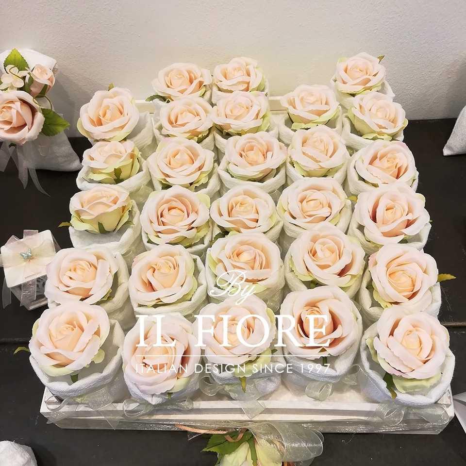 Bomboniere  Cresima  sacchetti portaconfetti con fiori