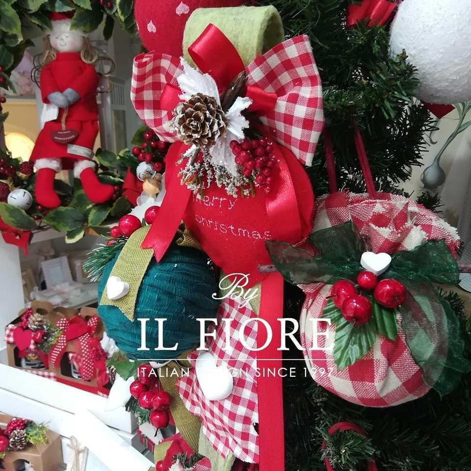Palline Natalizie decorazioni Natalizie Fiocco albero di Natale
