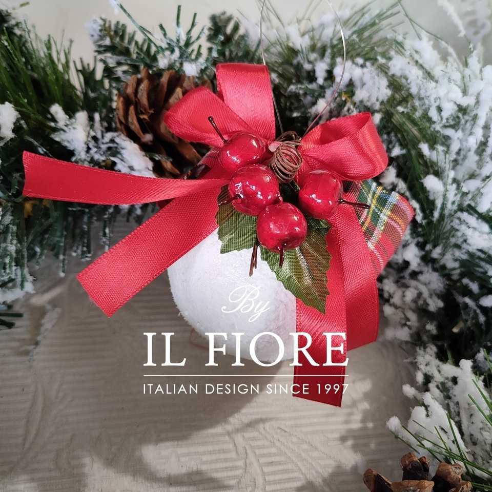 Creazioni Natale Pallina Natale Palline Natalizie decorazioni Natalizie con Fiocchi e bacche