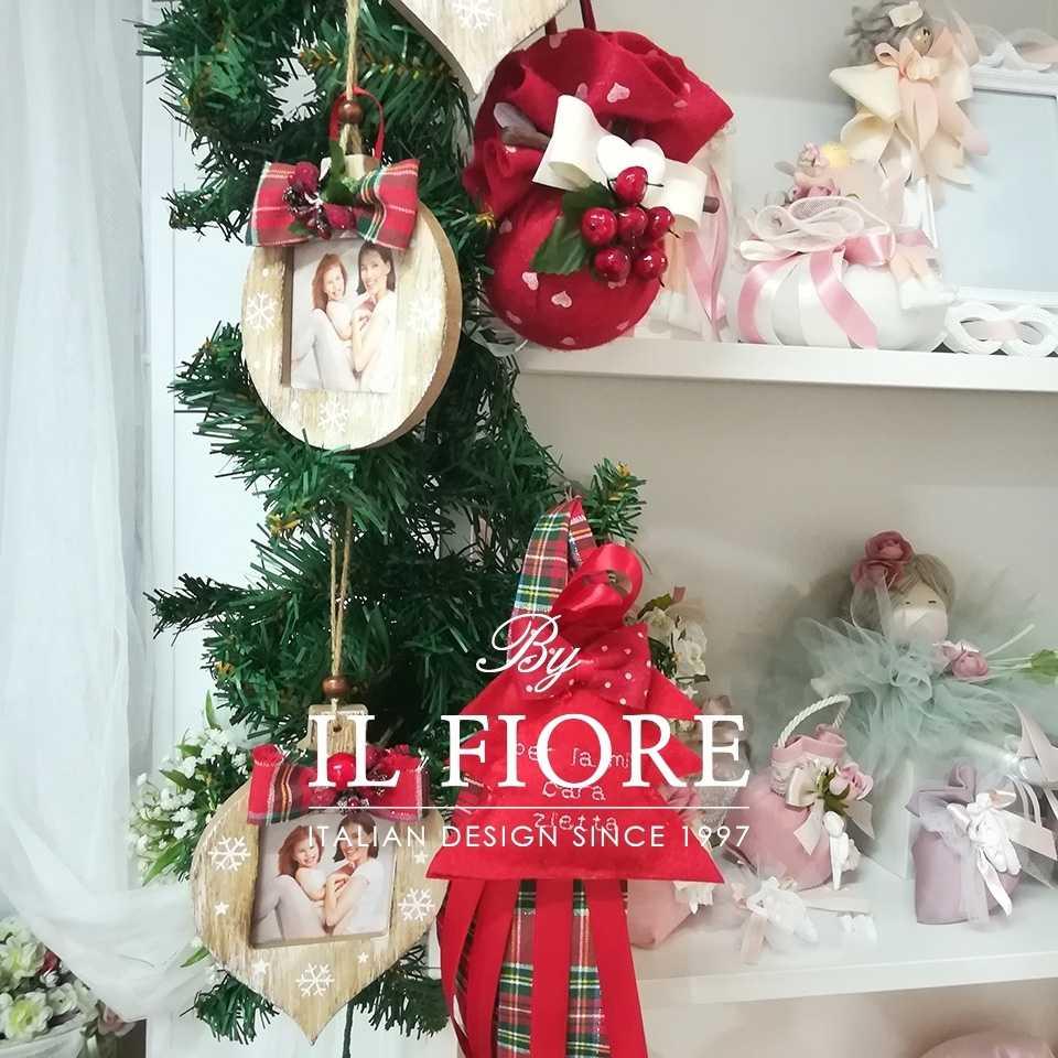 Creazioni Natale Pallina Natale Decorazione Natalizia portafoto in legno