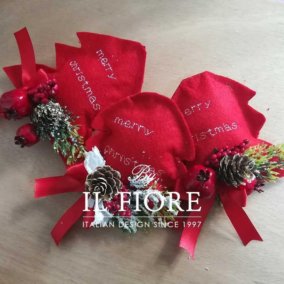 Creazioni Natale Pallina Natale Decorazioni Natalizi Alberello di Natale Ricamato e personalizzabile