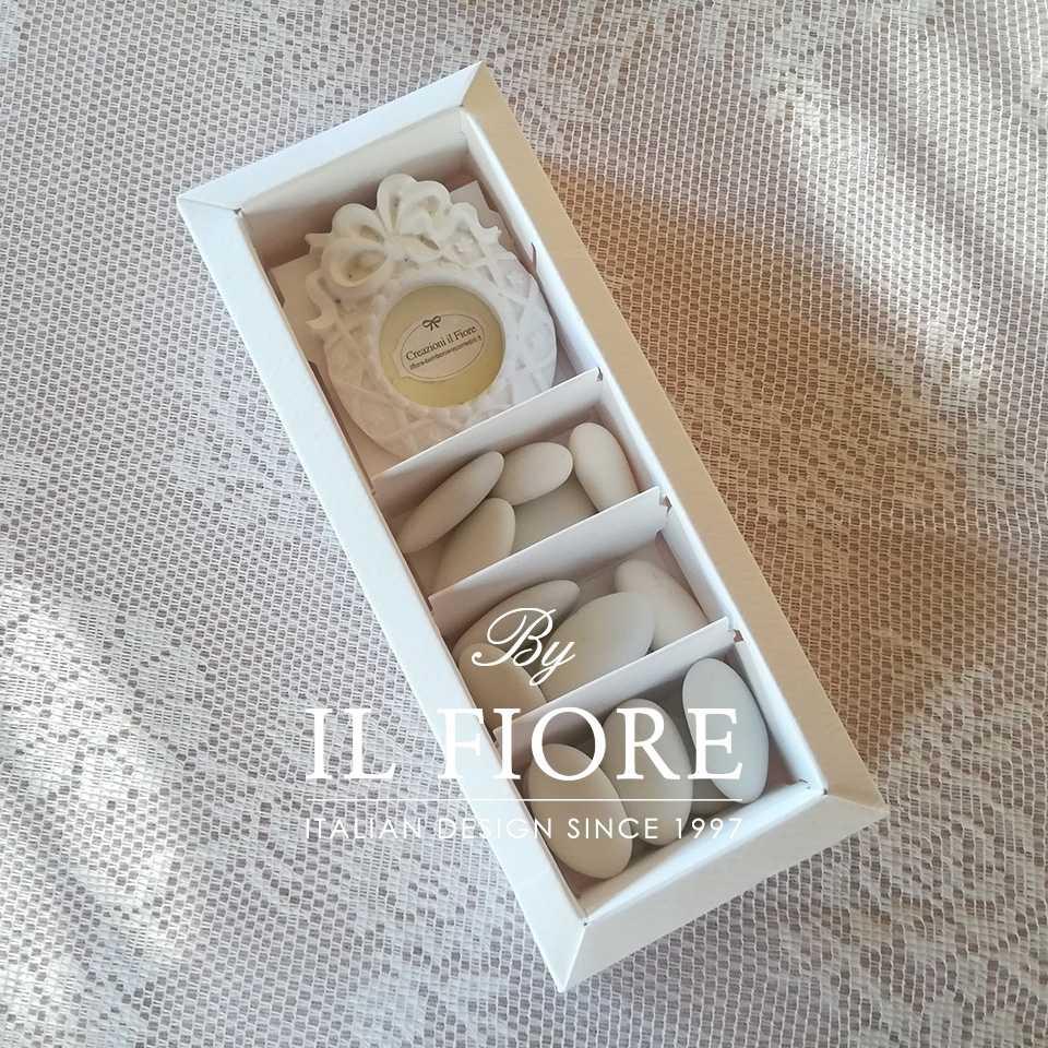 Bomboniera matrimonio scatola portaconfetti con cornice