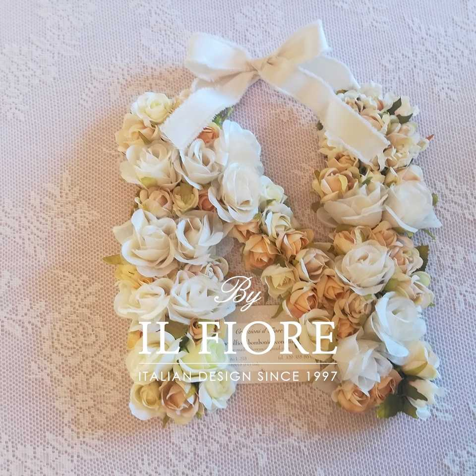 Bomboniere Fiori Fiori Bomboniere lettere personalizzabili con fiori - fuoriporta