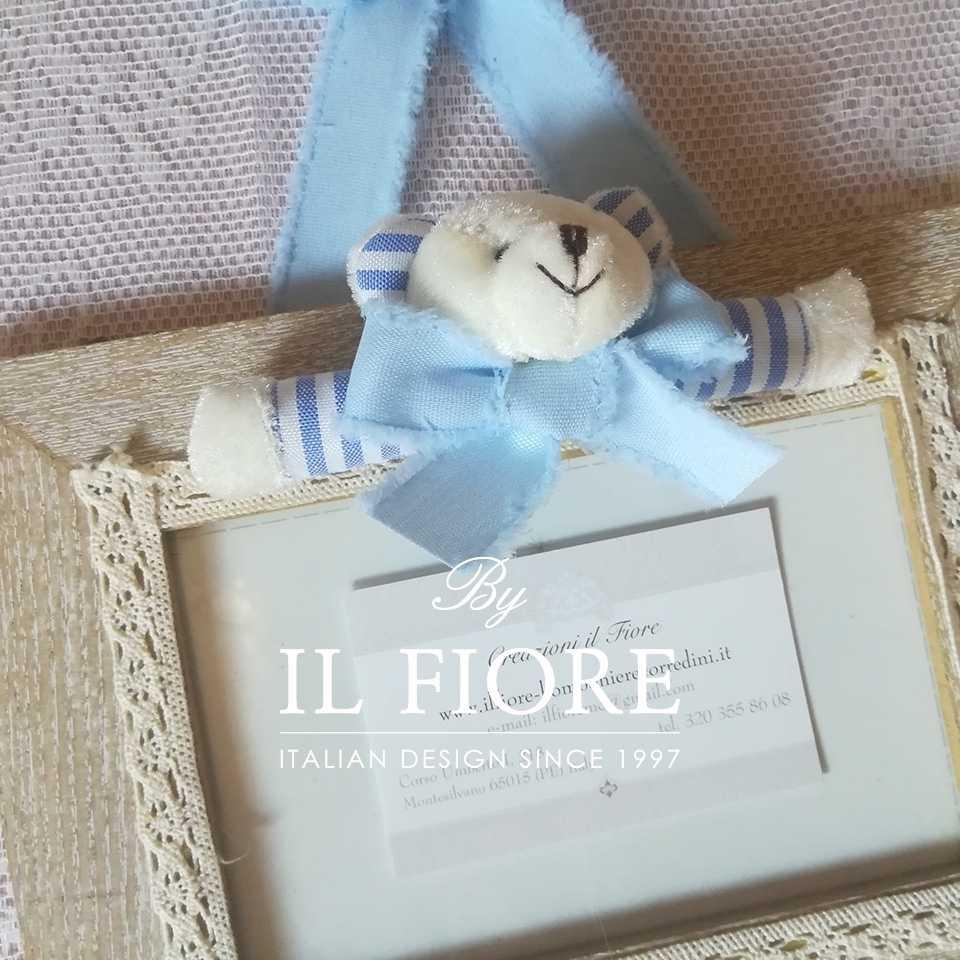 Portafoto  Portafoto Portafoto bimbo e bimba con orsetto  e merletto articolo da regalo