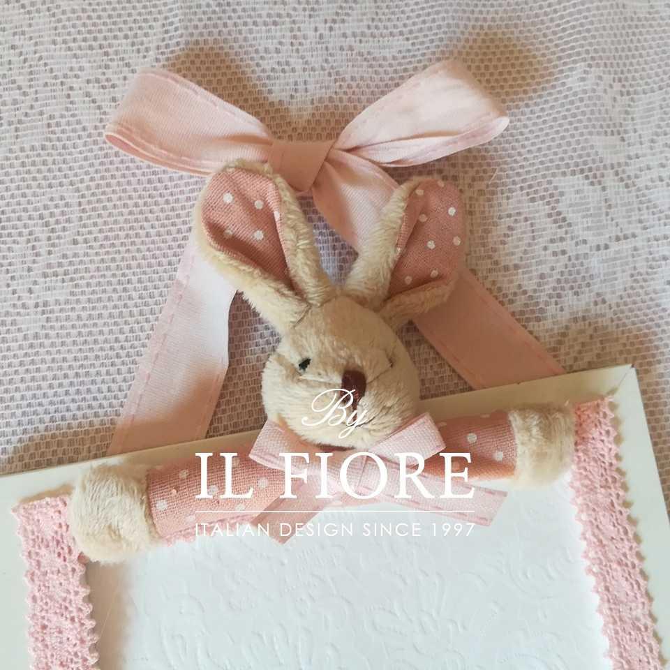 Portafoto bimba e bimbo con orsetto e merletto articolo da regalo