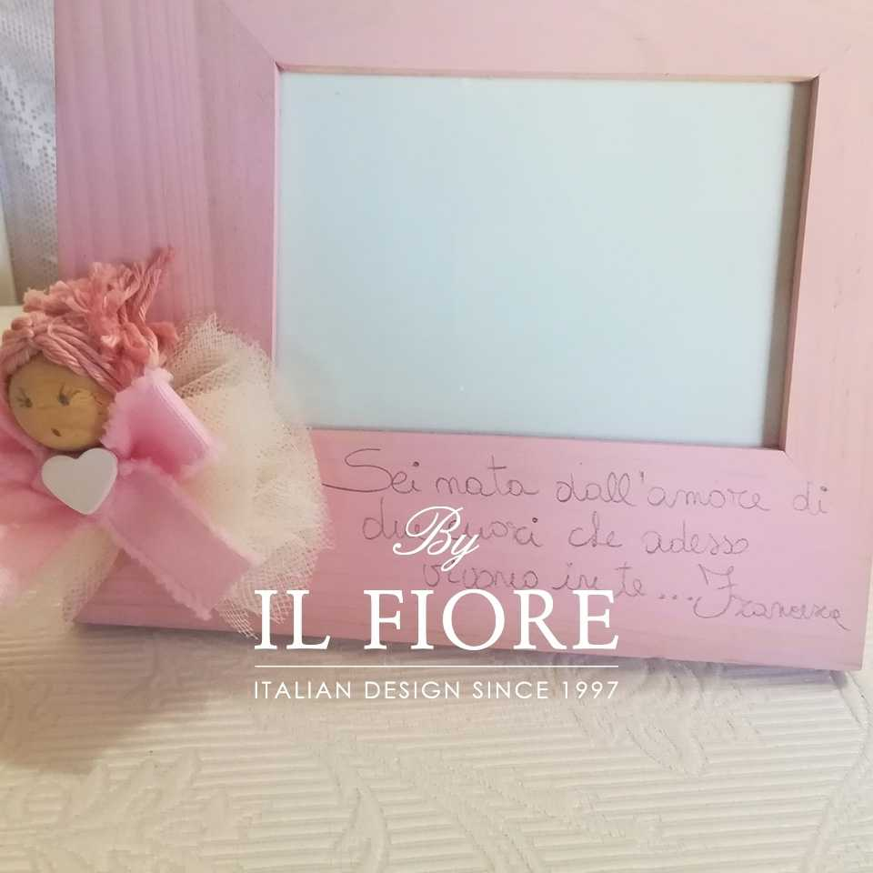 Portafoto bimba con bambolina e frase dedicata al bebè articolo da regalo