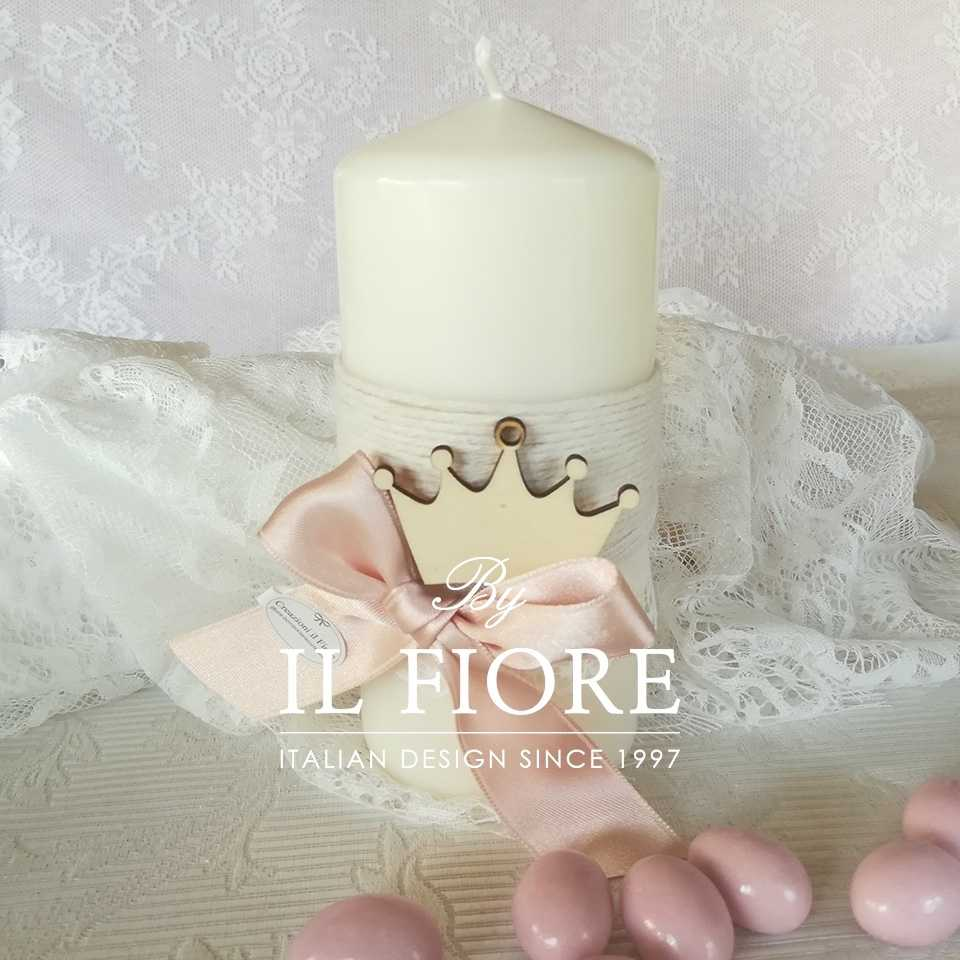 Bomboniere Battesimo Piccolo Principe Bomboniera Battesimo candela principessa principino con corona.
