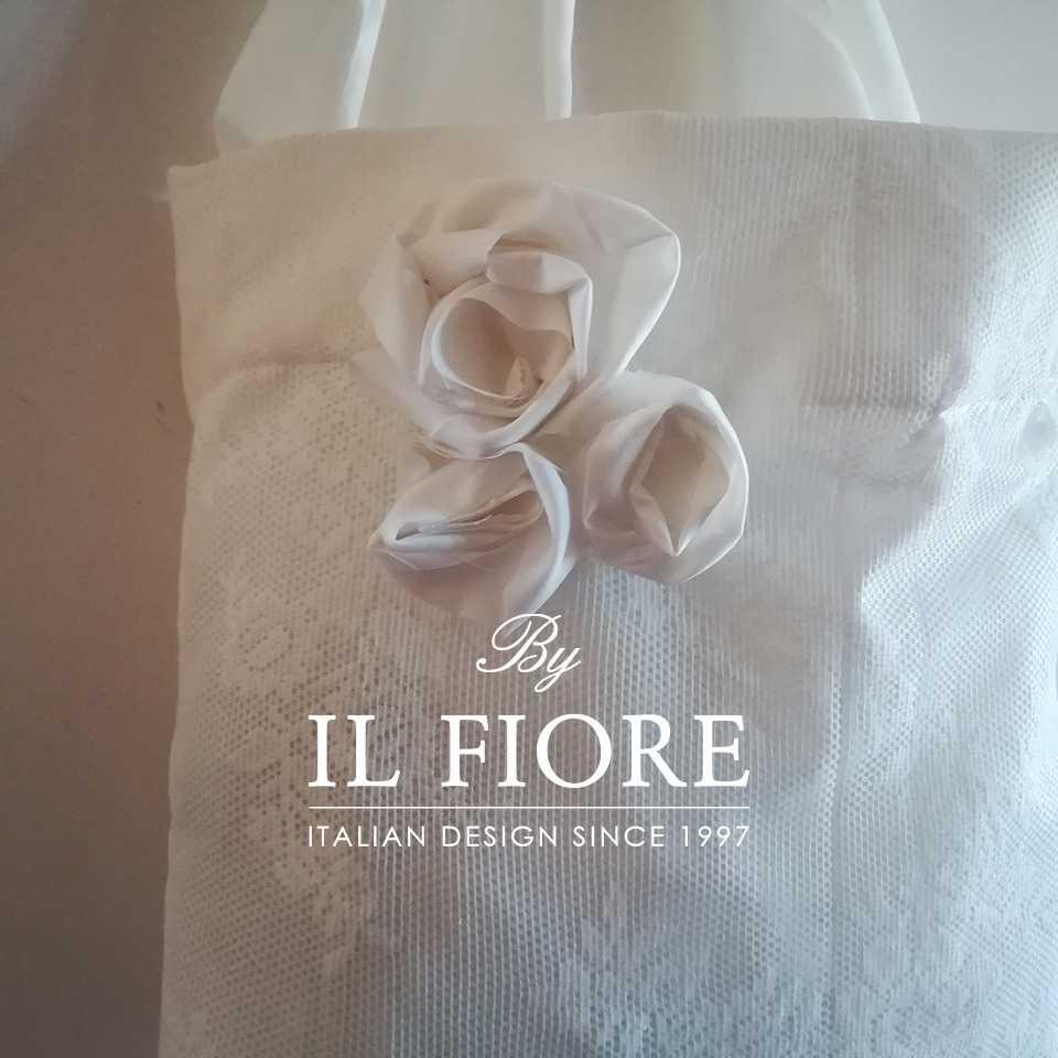 Collezione Moda Borse e cappelli Borse in pizzo con rose in stoffa Bag pizzo donna
