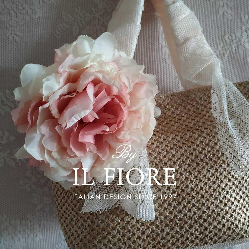 Collezione Moda Borse e cappelli Borse donna a mano con pizzo e fiore Bag donna