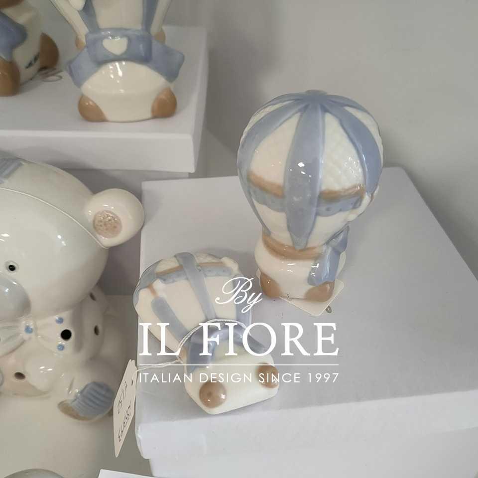 Bomboniere Battesimo Ceramica Ceramica Bomboniera Battesimo Mongolfiera
