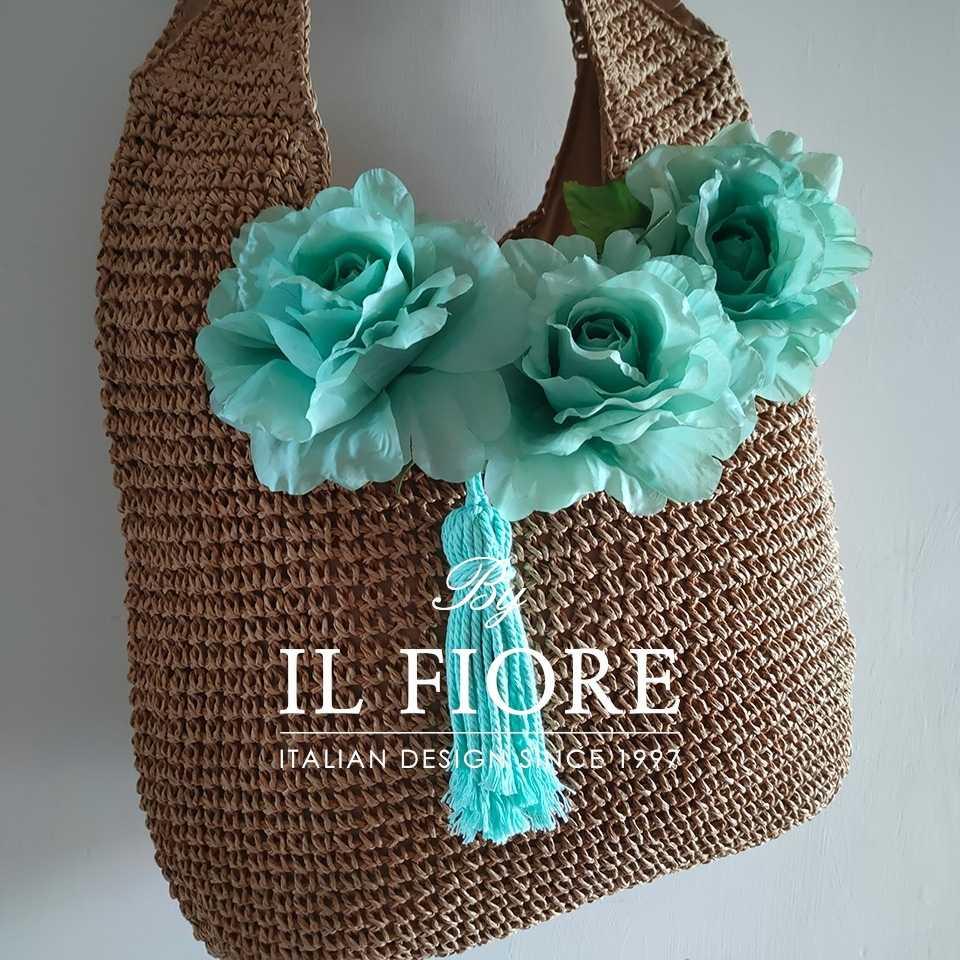 Collezione Moda Borse e cappelli Borse donna a spalla con fiori e nappina Bag donna