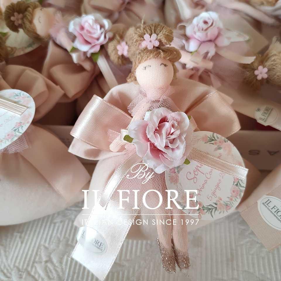 Bomboniere Bambola con Vestito in Tulle e Fiore