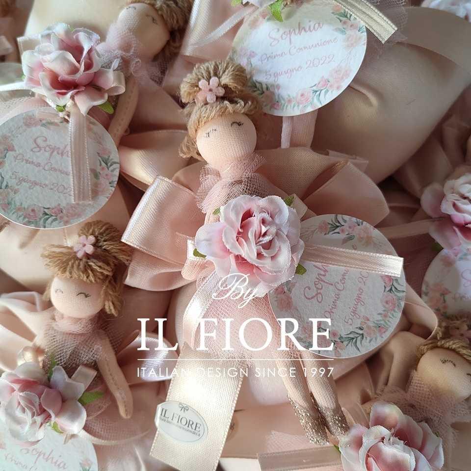 Bomboniera Battesimo bambola tutu rosa