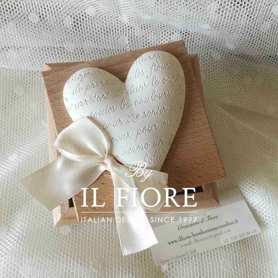 Bomboniere matrimonio scatola in legno con Cuore