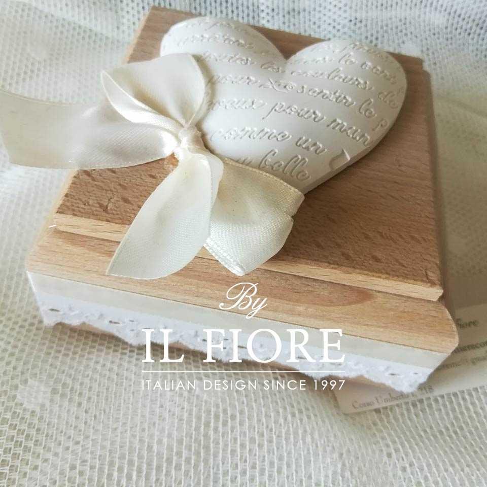 """Bomboniera Shabby Chic scatola in legno con Cuore Particolare scatola in legno con gessetto """"Cuore"""""""