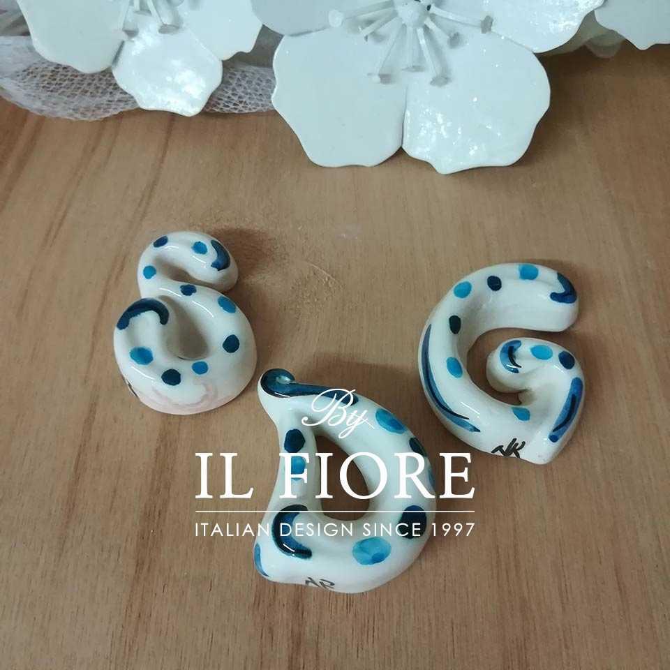 Ceramica - Calamita a lettera colorata