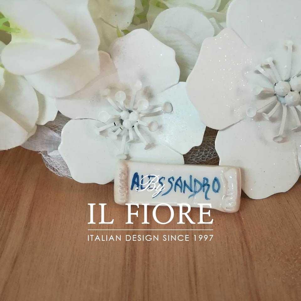 Ceramica - targhetta con Nome personalizzabile