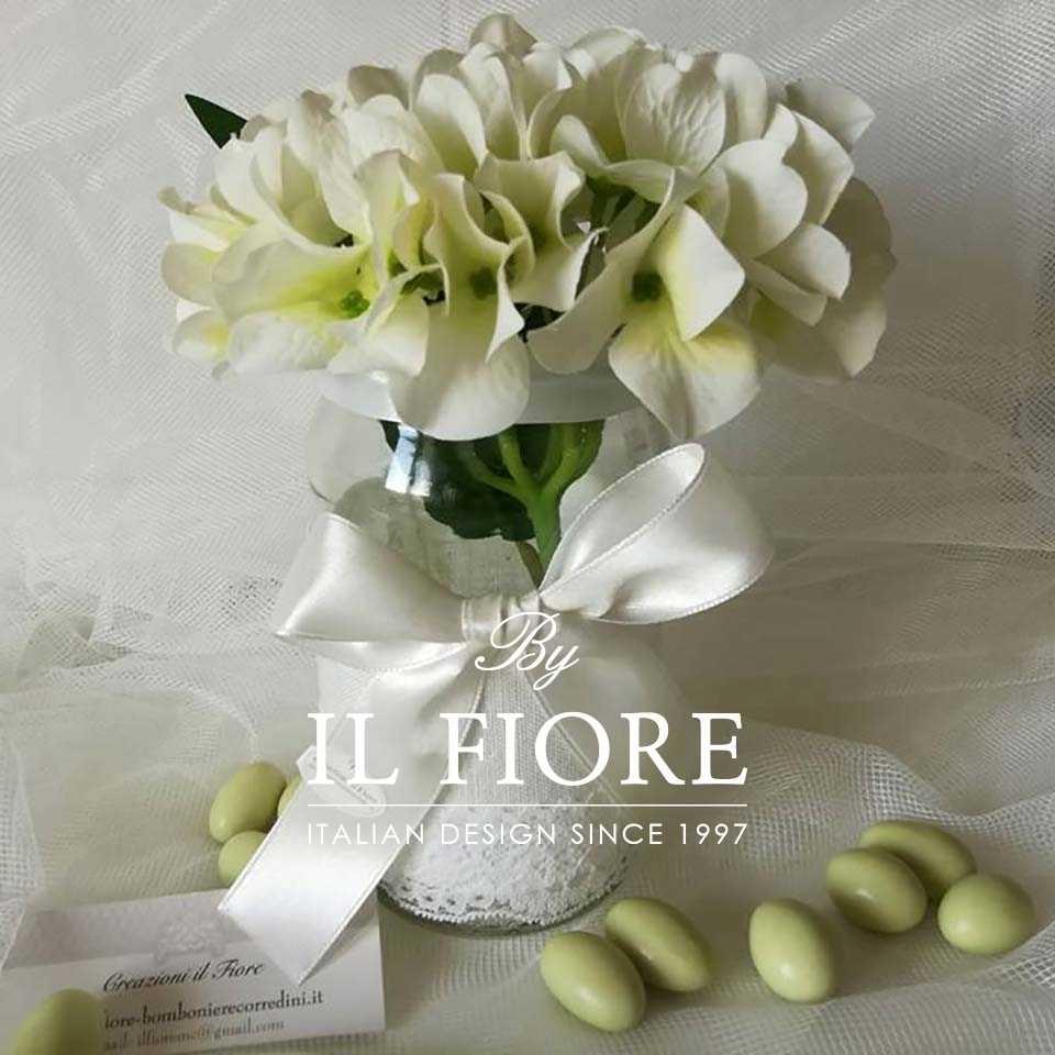 Bomboniere Fiori Fiori Vasetto Vanessa per confettata o porta fiori