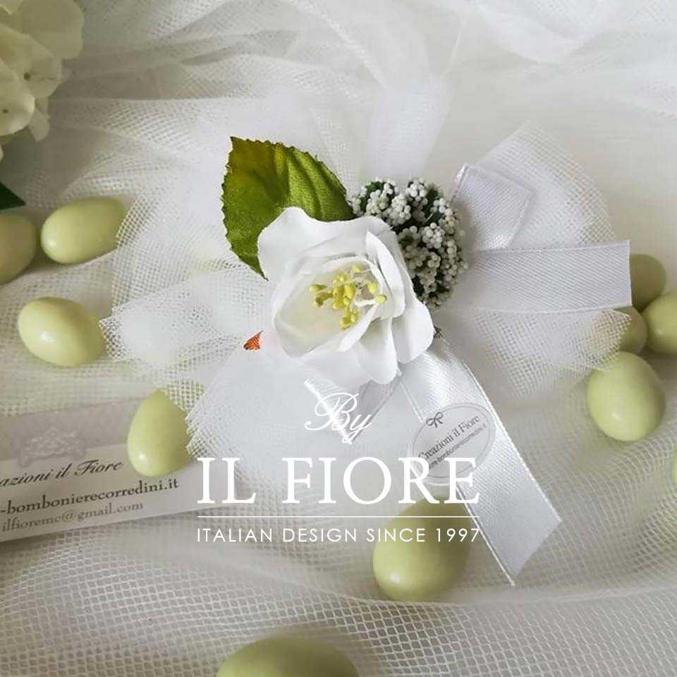 Bomboniere Fiori Fiori Bomboniera Comunione ciuiffetto portaconfetti con fiore