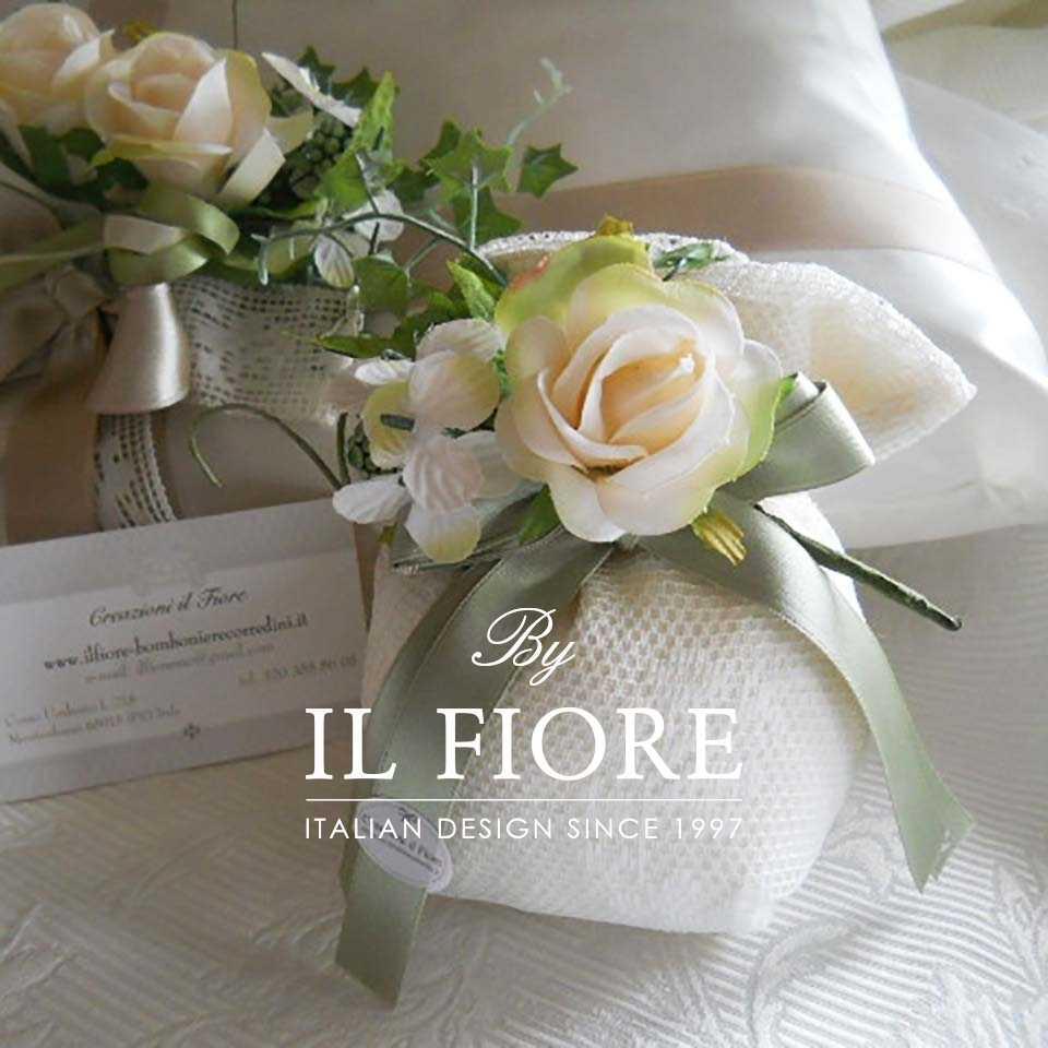 Bomboniere Fiori Fiori Bomboniere Matrimonio Sacchetto Portaconfetti in Pizzo