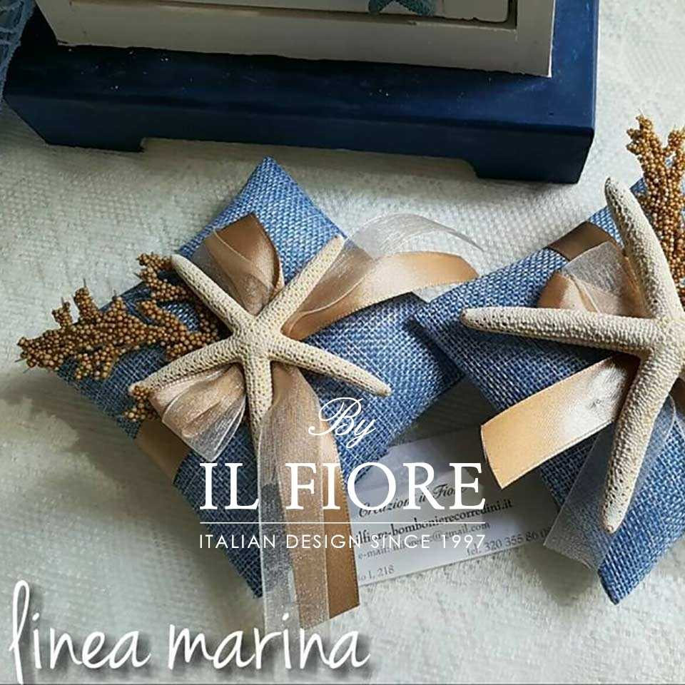 Bomboniere Comunione Bimbo Sacchetto Portaconfetti con stella Marina