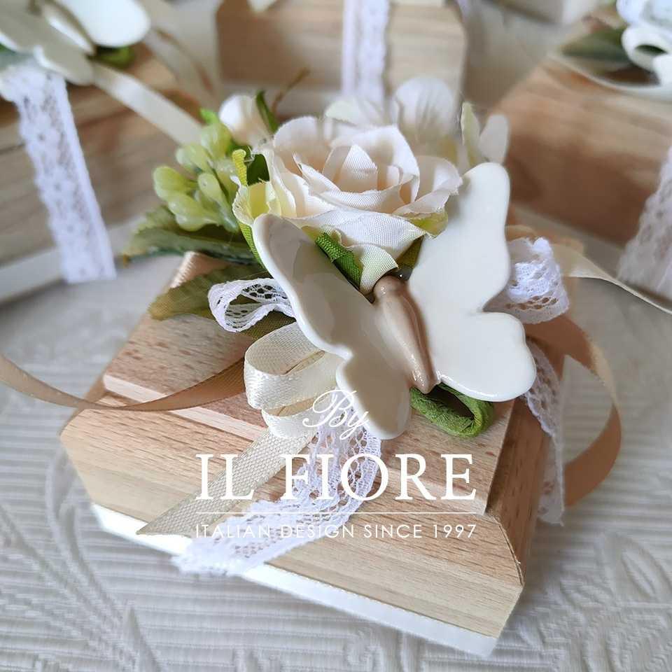 Bomboniere Comunione Cresima e Matrimonio scatola con farfalle