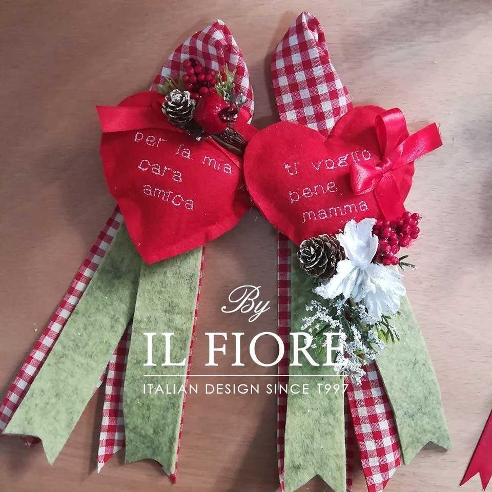 Creazioni Natale Cuori Fuoriporta Natalizio