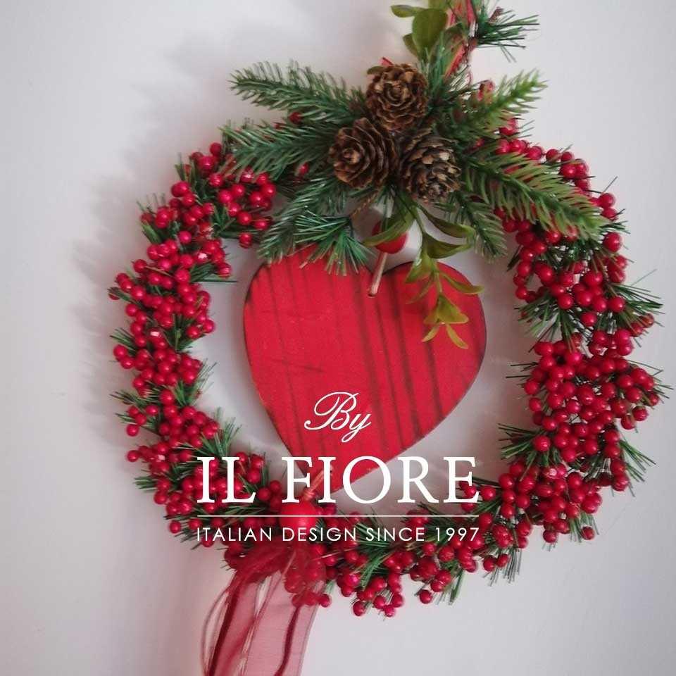 Creazioni Natale Ghirlande Ghirlanda con cuore rosso